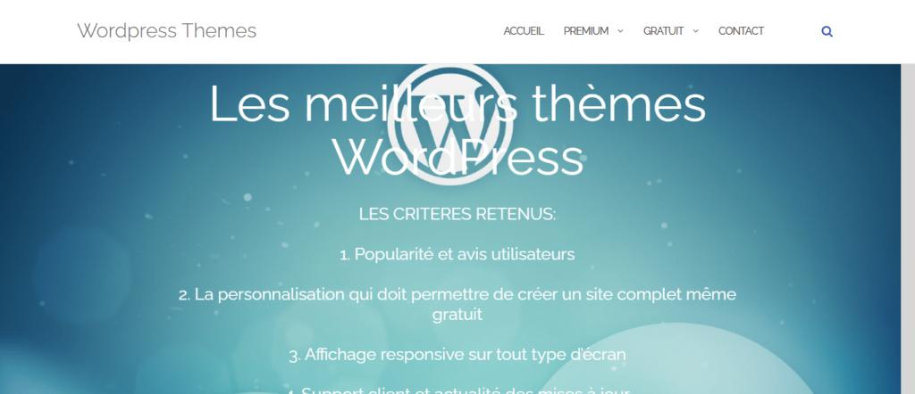 Les meilleurs thèmes WordPress